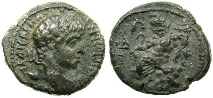 Ancient Coins - EGYPT.ALEXANDRIA.Elagabalus AD 218-222.Billon Tetradrachm, struck AD 220/221.