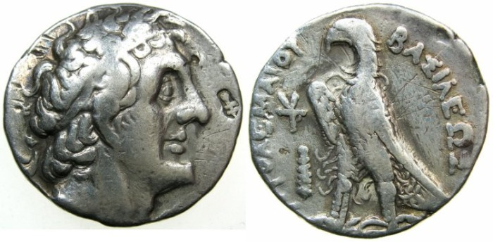 Ancient Coins - Ptolemaic Empire.PHOENCIA.Ptolemy II Philadelphus  285-246 BC.AR.Tetradrachm.Struck c.266/5.mint of TYRE