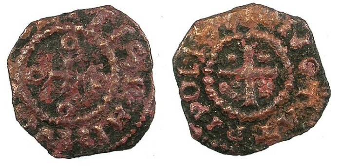 Ancient Coins - CRUSADER.County of Tripoli.Raymond I 1099-1105 or Raymond II 1137-1152.AE.Copper.MONETA TRIPOLIS type