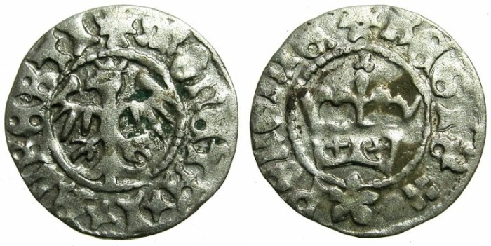 World Coins - POLAND.Jan Olbracht AD 1492-1501.AR.Half Groshen.N.D.