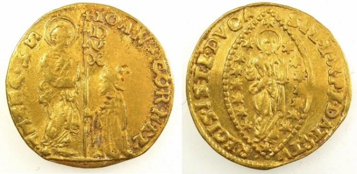 Ancient Coins - ITALY.VENICE.Giovanni Corner II AD 1709-1722.AV.Zecchino
