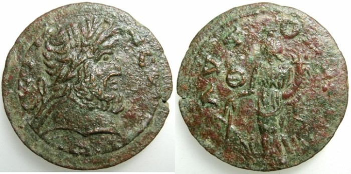 Ancient Coins - PISIDIA.Termessus Major.3rd to 4th Cent AD.AE.28.8mm.~~~Zeus.~#~ Tyche