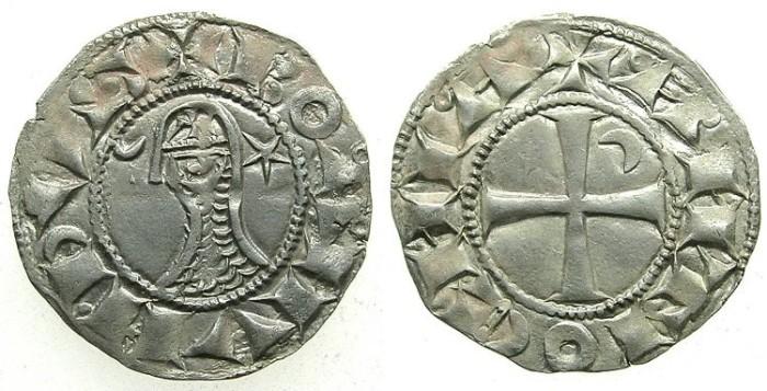 Ancient Coins - CRUSADER.ANTIOCH. Bohemond III or IV c.1149-1233 Bi.Denier.class D