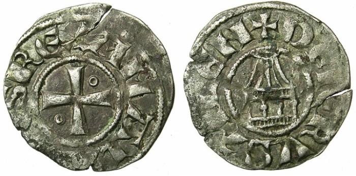 Ancient Coins - CRUSADER.JERUSALEM.Amaury AD 1163-1174.Bi.Denier.Type 12