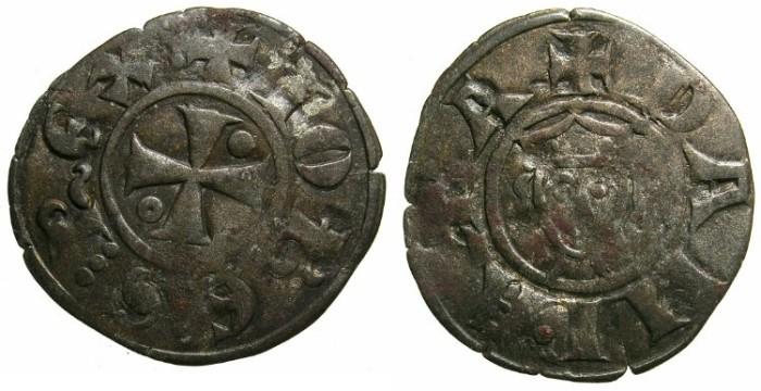 Ancient Coins - CRUSADER.JERUSALEM.John of Brienne AD 1210-1225.B.Denier.Mint of ACRE?