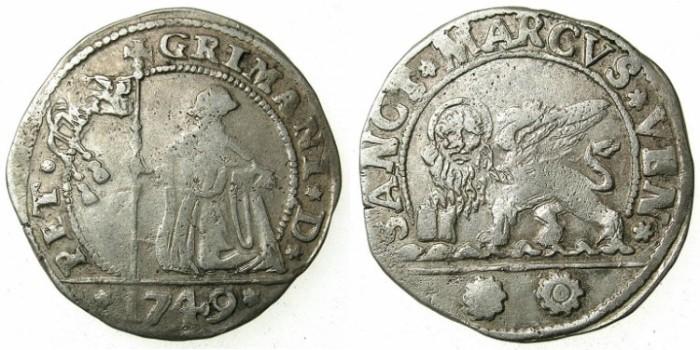 Ancient Coins - ITALY.VENICE.Pietro Grimani 1741-1752.Bi.15 Soldi 1749.