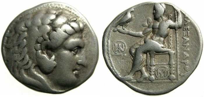 Ancient Coins - MACEDONIAN EMPIRE.Alexander III The Great 336-323 BC.AR.Tetradrachm.Struck Circa 305-290 BC.Mint of TYRE.