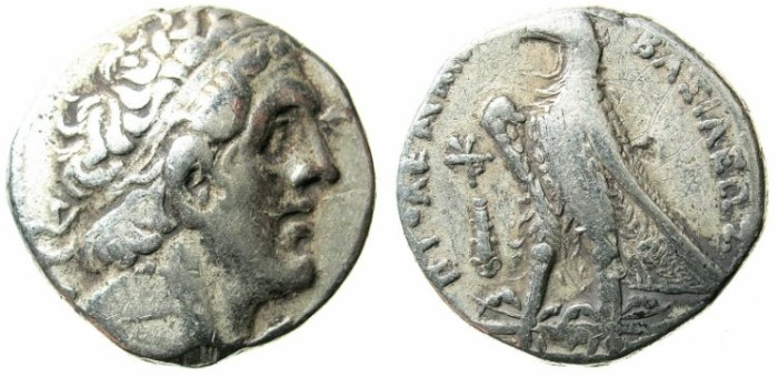 Ancient Coins - PTOLEMAIC EMPIRE.PHEONICIA.Ptolemy II 285-246 BC.AR.Tetradrachm.Mint of TYRE.