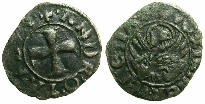 Ancient Coins - CRUSADER.GREECE under VENICE.Andrea Contarini AD 1368-1382.Bi.Tornesello