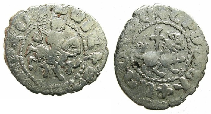 Ancient Coins - ARMENIA.Oshin AD 1308-1320.AR.Takvorin.Mint of Sis.