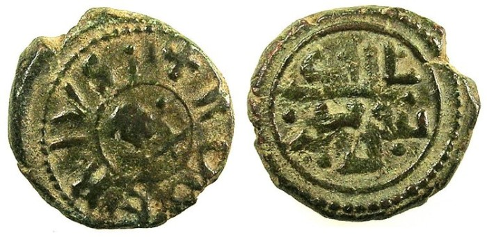 Ancient Coins - ITALY.SICILY.Tancred AD 1189-1194.AE.Follaro.