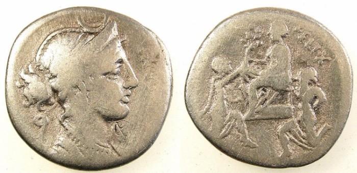 Ancient Coins - ROME.REPUBLIC.Faustus Cornelius Sulla 56 BC.AR.Denarius. Sulla,Bocchus and Jugurtha