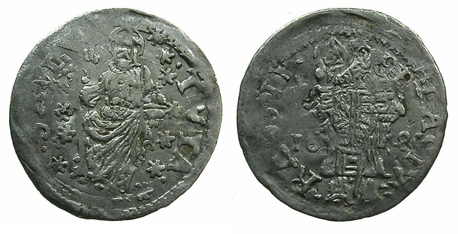 World Coins - RAGUSA.Republic 1358-1805.AR.Grosetto 1648.