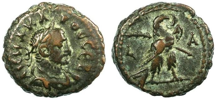 Ancient Coins - EGYPT ALEXANDRIA.Carus AD 283-284.Bi.Tetradrachma.Eagle.