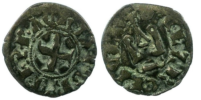 Ancient Coins - CRUSADER.Achaia.Philip de Tarante AD 1307-1313.Bi.Denier.Clarencia mint.