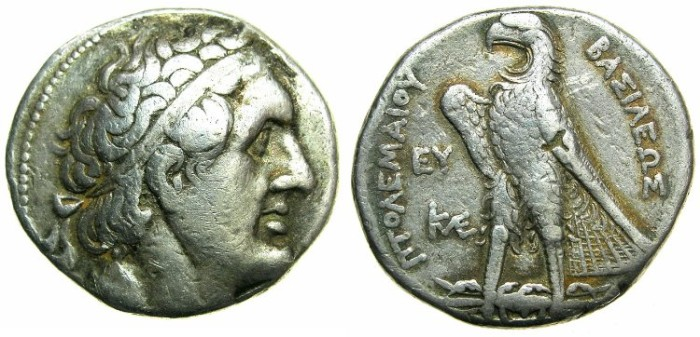 Ancient Coins - PTOLEMAIC EMPIRE.CYPRUS.Ptolemy II 285-246 BC.AR.Tetradrachm.Mint of SALAMIS ( or KITION )