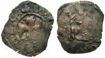 World Coins - CRUSADER STATES.GREECE.EPIRUS.John II Orsini 1323-1335.Bi.Denier.Struck at ARTA.
