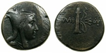Ancient Coins - PONTUS.AMISOS.Circa 125-100 BC.AE.26.7mm.struck under Mithradates VI 120-63 BC.
