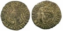 World Coins - SPAIN.CASTILLE AND LEON.Juan I AD 1379-1390.Bi.Blanca del Agnus Dei.Mint of Seville.