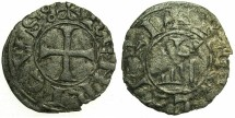 World Coins - CRUSADER STATES.CYPRUS.Henry I AD 1218-1252.Billon Denier.