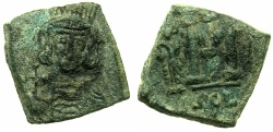 Ancient Coins - BYZANTINE EMPIRE.SICILY.Constantine IV AD 668-685.AE.Follis.Mint of SYRACUSE.