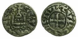 World Coins - FRANCE.TOURS.Abbey of Saint Martin.Anonymous.Billon Denier.12th cent AD.