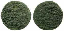 World Coins - ITALY.SICILY.William II AD 1166-1189.AE.Follaro.Mint of MESSINA