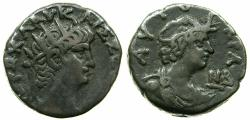 Ancient Coins - EGYPT.ALEXANDRIA.Nero AD 54-68.Billon Tetradrachm, struck AD 65/66.~#~.Bust of Alexandria.