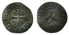 World Coins - LOWLANDS.FLANDERS.Ludovic of Nevers AD 1322-1346.AR. Quarter Groot. Mint of ALOST.