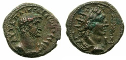 Ancient Coins - EGYPT.ALEXANDRIA.Gallienus AD 253-268.Billon Tetradrach, struck 266/67 AD.~#~.Bust of Helios.
