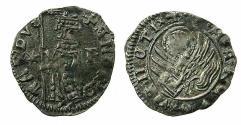 World Coins - ITALY.VENICE.Andrea Contarini AD 1368-1382.AR.Soldino.2nd Type.