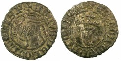 World Coins - SPAIN.CASTILLE AND LEON.Juan I AD 1379-1390.Bi.Blanca del Agnus Dei.Mint of Seville.