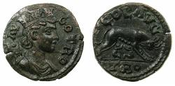 Ancient Coins - TROAS.ALEXANDRIA TROAS.Pseudo Autonomous issue, Mid 3d cent AD.AE. Reverse. Wolf suckling twins.