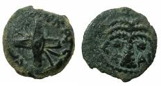 Ancient Coins - JUDAEA.Procurators.Antonius Felix AD 52-59 under Claudius, naming Britannicus.AE.Prutah Struck AD 54