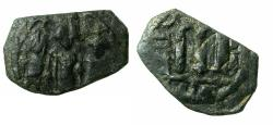 Ancient Coins - PSEUDO BYZANTINE.7th cent Fals. Reverse. Garbled TABARIYA?