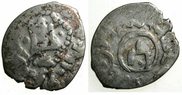 World Coins - ITALY.CAFFA. Genoese colony.Filippo Maria Visconti AD 1421-1435 naming Devlet Birdi Khan AD 1420-1421.AR.Bi-lingual Asper.