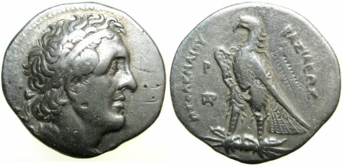 Ancient Coins - PTOLEMAIC EMPIRE.EGYPT.Alexandria mint.Ptolemy II Philadelphus 285-246 BC. AR.Tetradrachm.struck circa 284/3 BC.~~~Engraver Delta