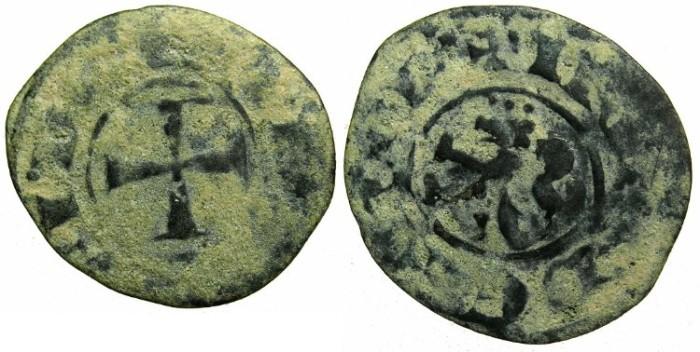 Ancient Coins - CRUSADER.CYPRUS.Henry II AD 1275-1324.Bi.Denier.