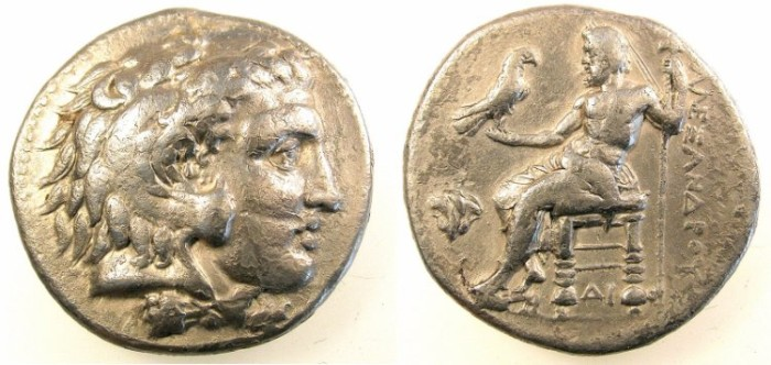 Ancient Coins - MACEDON.Alexander III The Great 336-323BC.AR.Tetradrachm.Memphis mint.Egypt.