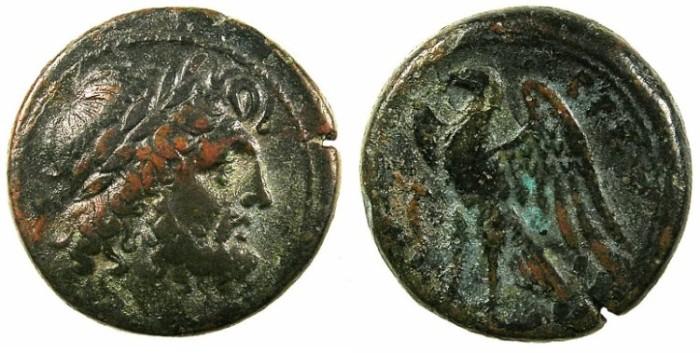 Ancient Coins - BRETTIUM.BRETTII.C.282-203 BC.AE.21mm.Zeus.Rev.Eagle.