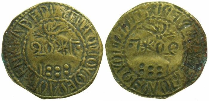 World Coins - CAPPADOCIA.KELVERI.St.Gregory Theologus church.AE.20 Para ' Bracteate' Token 1888