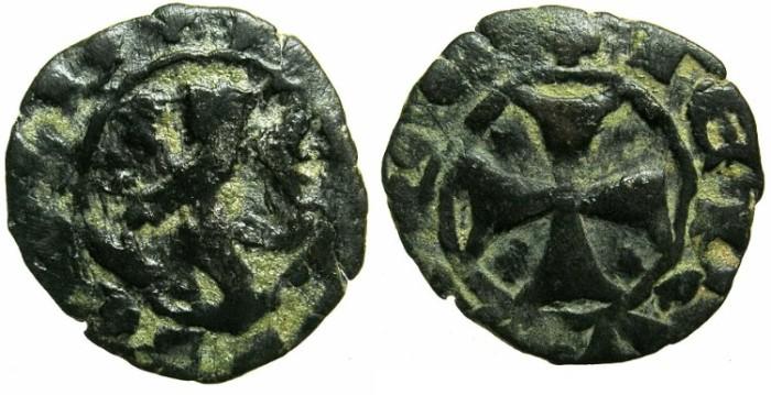 Ancient Coins - CRUSADER STATES.CYPRUS.James I AD 1382-1398 or Janus AD 1398-1432.Billon Denier.