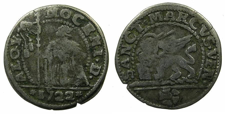 World Coins - ITALY.VENICE.Alvise Mocenigo III 1722-1732.Billon 10 soldi 1722.