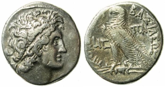 Ancient Coins - EGYPT.ALEXANDRIA.Ptolemy X Alexander I 101-88.AR.Tetradrachm.struck 99-98 BC
