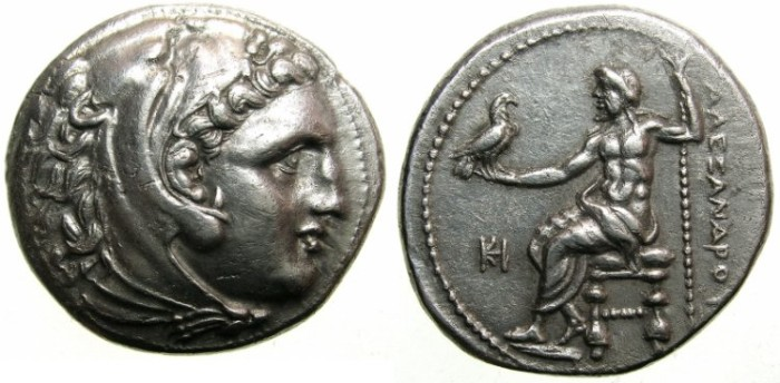 Ancient Coins - MACEDON.Alexander III The Great 336-323 BC.AR.Tetradrachm.posthumus issue struck circa 323-319 BC.Mint of MILETUS.