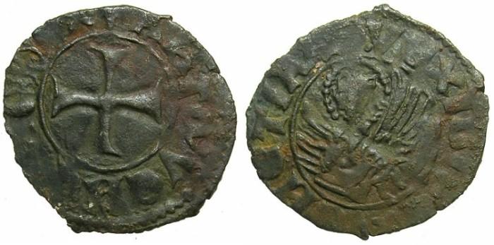 Ancient Coins - CRUSADER.GREECE under VENICE.Antonio Venier AD 1382-1400. Bi.Tornesello.