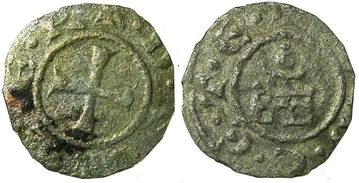 Ancient Coins - CRUSADER.SIDON.Balian Grenier AD 1229-1240.Bi.Denier.Anonymous issue.