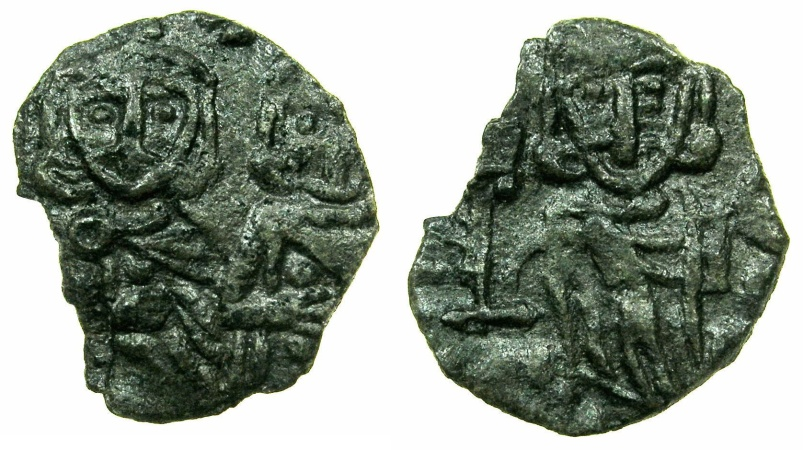 Ancient Coins - BYZANTINE EMPIRE.SICILY.Constantine V AD 741-775 with Leo IV associate ruler from AD 751-775.AE.Follis.