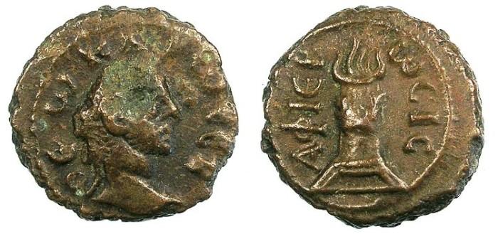 Ancient Coins - EGYPT ALEXANDRIA.Divis Carus .Bi.Tetradrachma.Flaming altar.