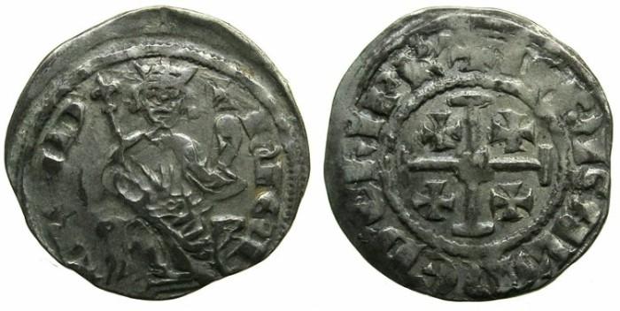 Ancient Coins - CRUSADER.CYPRUS.Hugh IV AD 1324-1359.AR.Gros Petit.HUGUE legend.